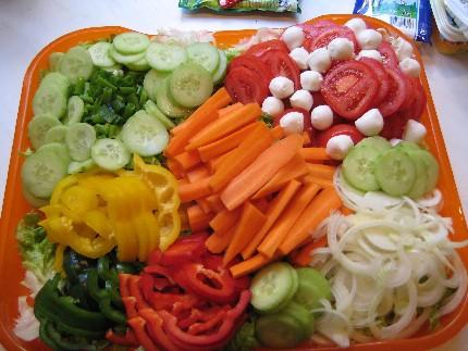 Gemüse-Lagen