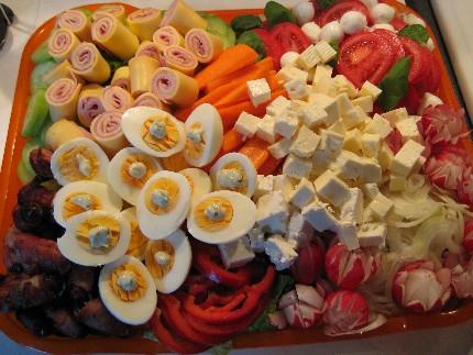 Die Salatplatte